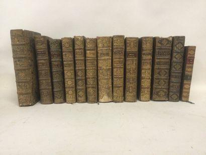 Ensemble de 13 volumes époque XVIIème et...
