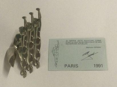 Stéphane GERARD, Sculpture en métal figurant...