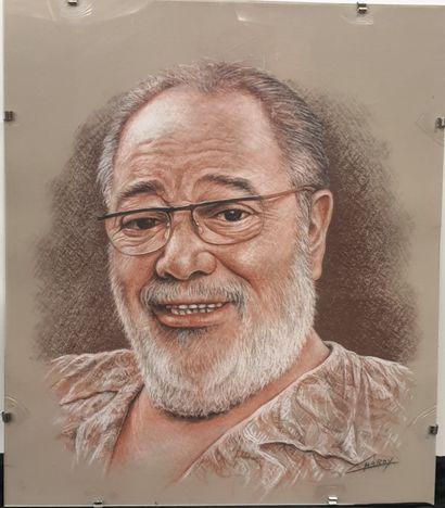 Claude CHAROY (1931-2020), Portrait de CARLOS...