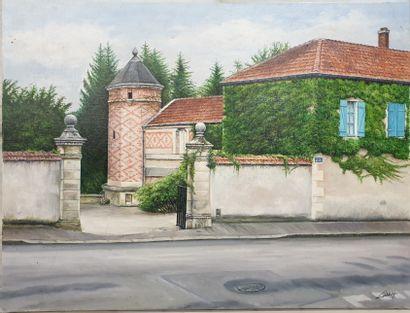 Claude CHAROY (1931-2020), Vue de Ligny-en-Barrois,...
