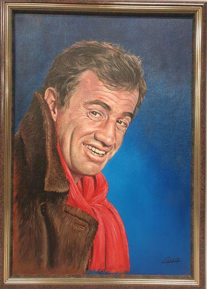 Claude CHAROY (1931-2020), Portait de Jean-Paul...
