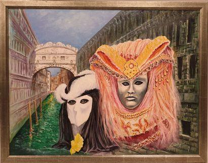 Claude CHAROY (1931-2020), Carnaval de Venise,...