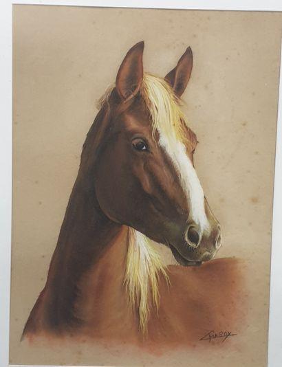 Claude CHAROY (1931-2020), Portrait d'un...