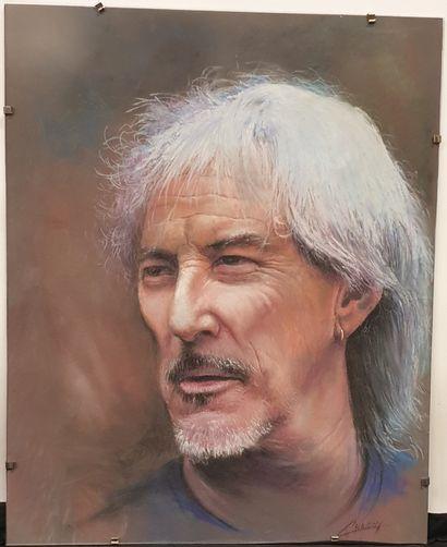 Claude CHAROY (1931-2020), Portrait de Hugues...