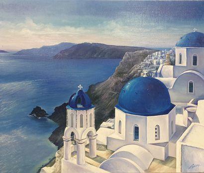 Claude CHAROY (1931-2020), Paysage grec,...