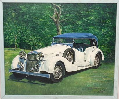 Claude CHAROY (1931-2020), Voiture ancienne...