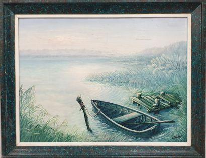 Claude CHAROY (1931-2020), Matin sur l'étang,...