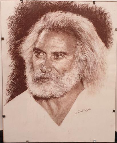 Claude CHAROY (1931-2020), Portrait Georges...