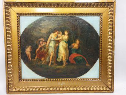 Ecole française du XVIIIème, Diane au bain,...