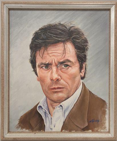 Claude CHAROY (1931-2020), Portrait de Alain...