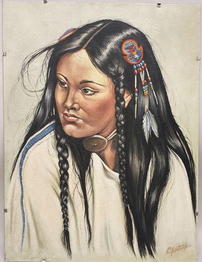 Claude CHAROY (1931-2020), Portrait d'une...