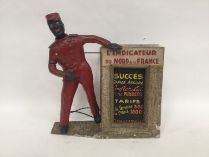 Nice fairground AUTOMAT in papier-mâché from...