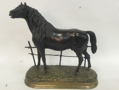 Paul COMOLERA (1818-1897) Horse at the gate...