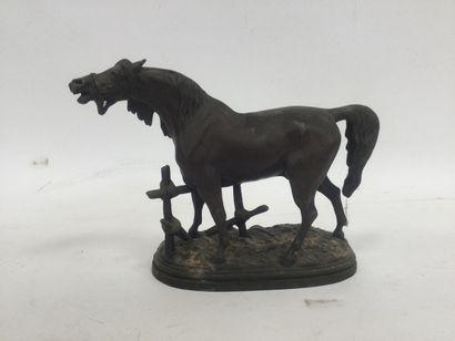 Sculpture in Regula, representing a horse,...