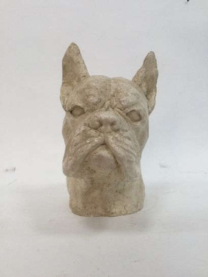 Nice sculpture in plaster of a painted boxer...