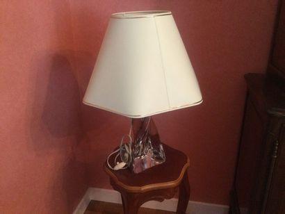 Une lampe en Cristal de Lorraine