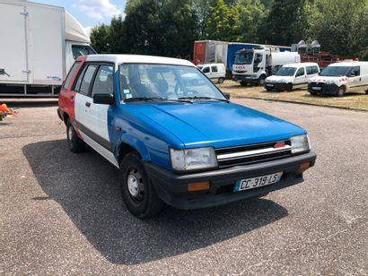 TOYOTA Tercel 4X4 de 1987 kilomètrage: 127300 km Moteur essence