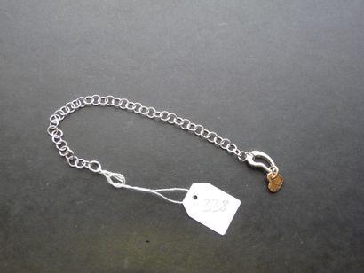 DODO : Bracelet en or gris 9K (375/oo) à...