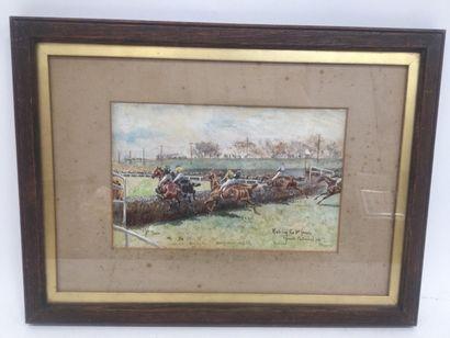 Rushing t (1853-1906)  John BEER, Grand National...