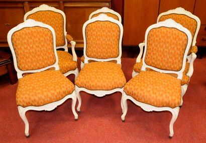 Série comprenant 2 Fauteuils et 4 Chaises...