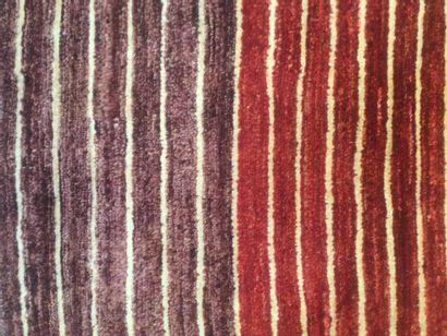 TAPIS d'Orient MODKAR à décor de rayure, dim. 240 x 198 cm