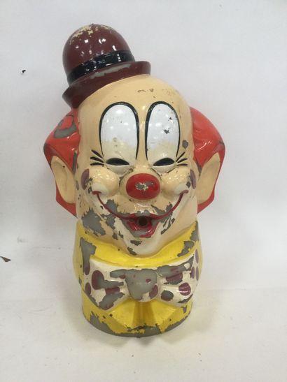 Tête de clown de manège