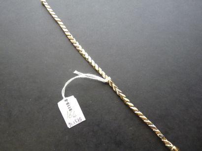 Bracelet en or 18K (750/oo) de trois tons...
