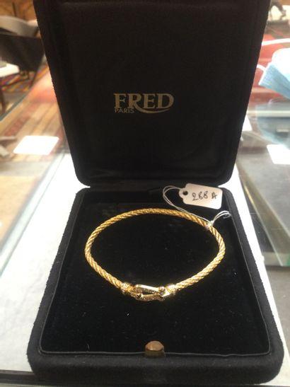 FRED: Bracelet modèle Force 10 en Or Jaune...