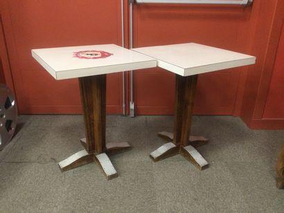 2 tables de bistro