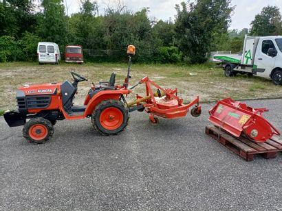 micro Tracteur KUBOTA B1410 700h avec plateau...