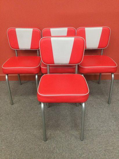 Ensemble de 4 chaises style années 50 rétro...