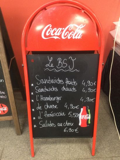 Porte menu Coca Cola en aluminium