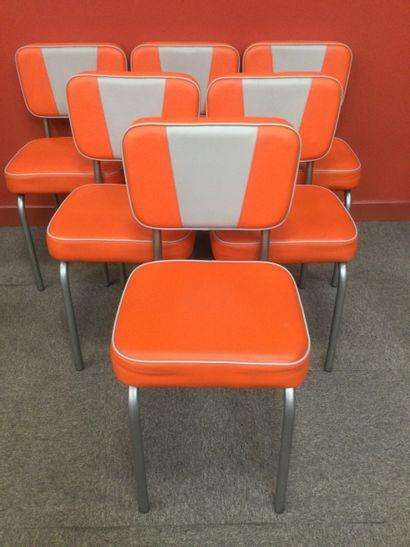 Ensemble de 6 chaises style années 50 rétro...
