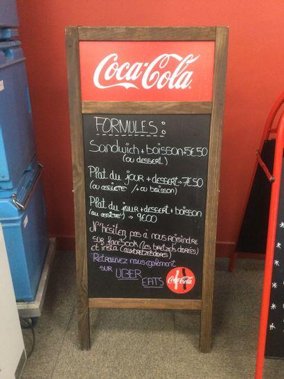 Porte menu Coca Cola en bois
