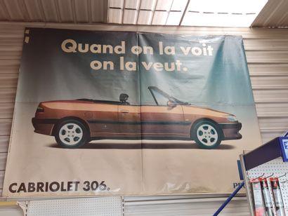 Grand Poster promotionnel pour la 306 Peugeot...