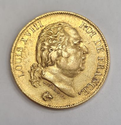 40 Francs or Louis XVIII, 1848 W, poids :...
