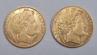 Lot de 2 Monnaies 10 Francs Cérès.