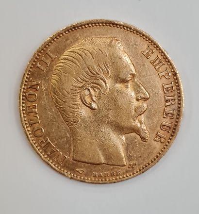 Napoléon III, Monnaies 20 Francs or 1857 A