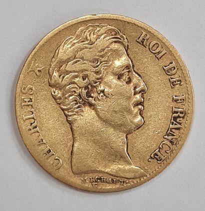 Charles X, monnaie 20 francs or 1827 A, poids...