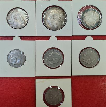 ALLEMAGNE - Lot de 7 monnaies allemandes...