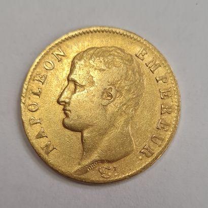 Napoléon Ier, 20 Francs or 1806 A, poids...