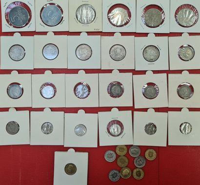 SUISSE - Lot d'environ de 35 monnaies suisses...