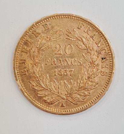 Napoléon III, Monnaies 20 Francs or 1857...