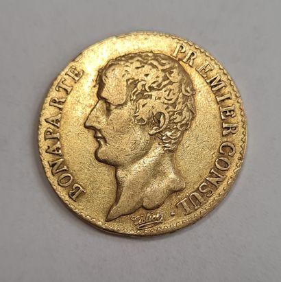 Napoléon Ier, 20 Francs or, AN 12 A, poids...