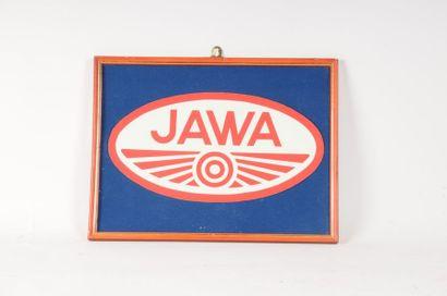Ecusson JAWA dans un cadre