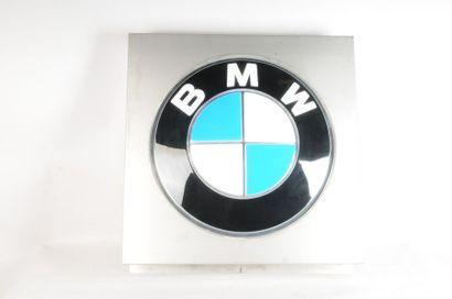 Enseigne lumineuse BMW, entourage alumin...