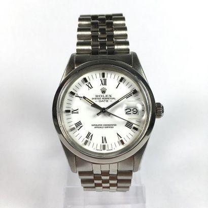 Rolex Date Montre Rolex Date, cadran blanc, automatic, Réf. R974833/15000, boîtier...