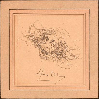 17- Levy DHURMER  ''Frayeur''  Dessin signé...