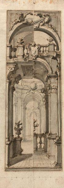 27- Ecole Française  ''Architecture''  Encre...