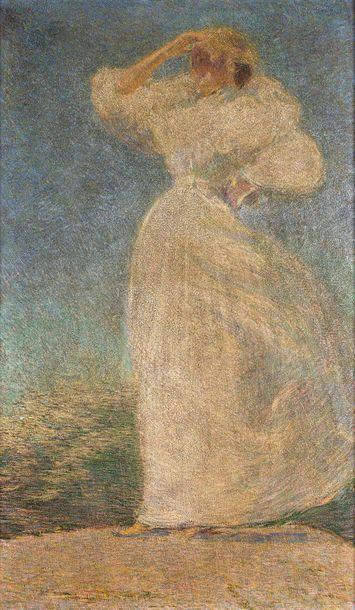 """30- Philip Leslie HALE (1865 - 1931)  """"Summer  Oil on canvas  102 x 65 cm  Inscription..."""